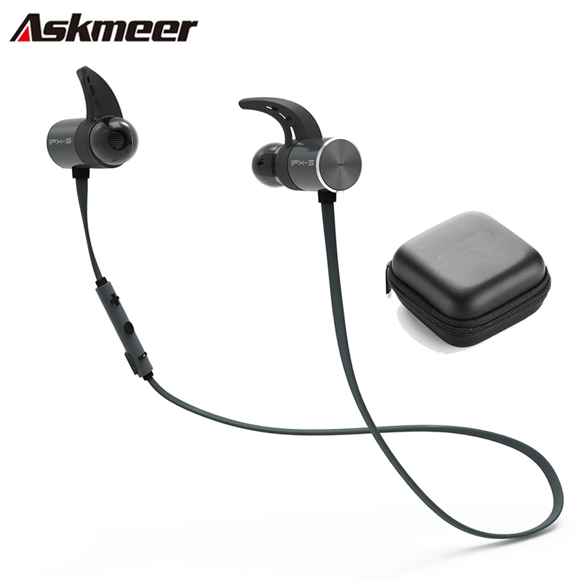 Askmeer Bluetooth Earphone Sport Wireless Waterproof Earbuds Headset In Ear Earphones Hands Free with Microphone for iPhone LG