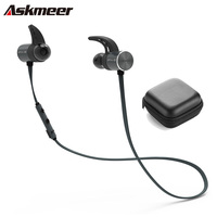 Askmeer Bluetooth Earphone Sport Wireless Waterproof Earbuds Headset In Ear Earphones Hands Free With Microphone For