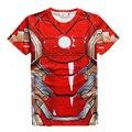 Big Boys Super Heroes vengador capitán américa el puerto T camisa personajes 3D camisa divertida Tee Shirts Casual adolescente Tops tyh-30687