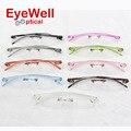 9 cores da moda unissex colorido TR90 óculos sem aro óptico frame moldura de plástico com peso leve 2016 hotsale 620