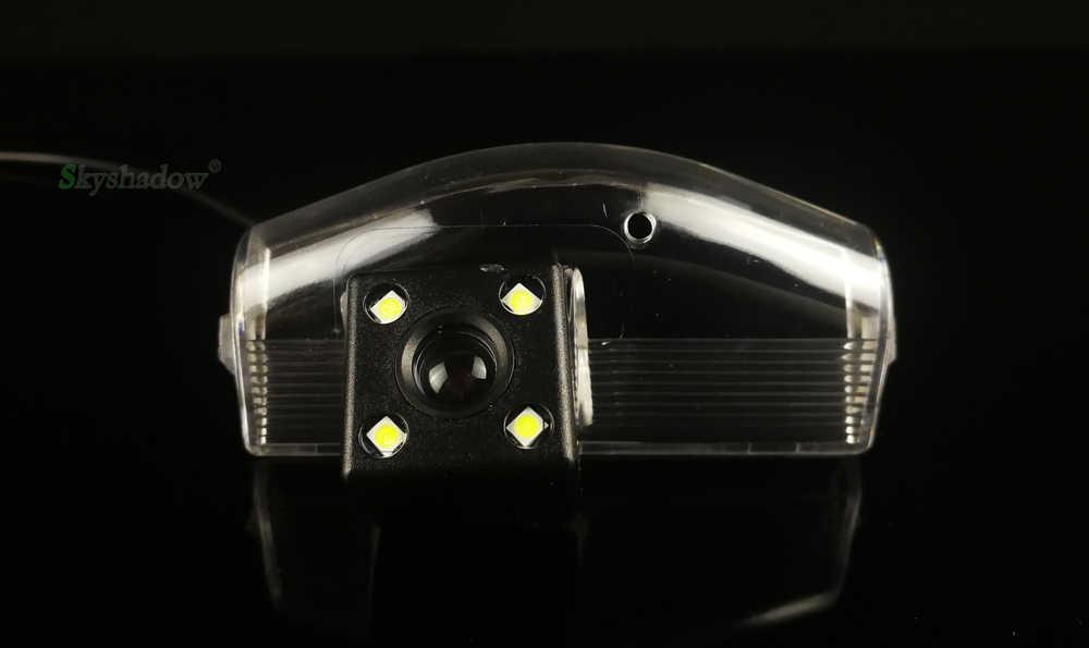HD רכב CCD ראיית לילה 4 LED גיבוי אחורית מצלמה חניה סיוע חניה צג עמיד למים עבור מאזדה 3 2011