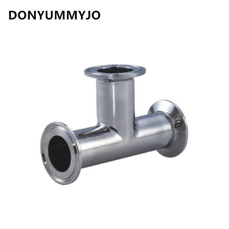 """DONYUMMYJO 51 MM 2 """"3 voies Tee sanitaire Ferrule raccords de tuyauterie en acier inoxydable SS304"""