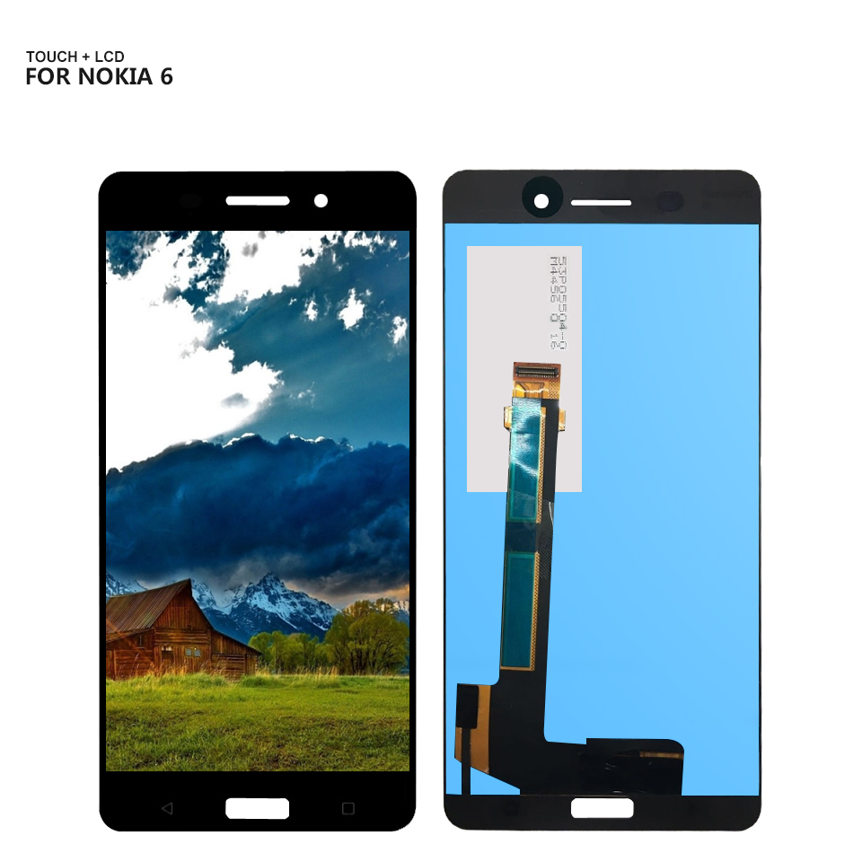 Trasporto Libero Per Nokia 6 Touch Screen Pannello di Vetro Digitizer Display LCD Assembly N6 Display LCD + Strumenti