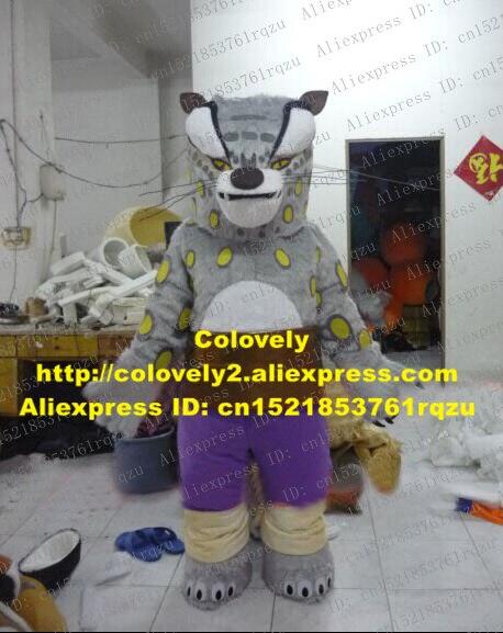 Dire Grey Kung Fu Panda Tai Lung Snow Leopard Snow Panther Mascot Costume Cartoon Character Mascotte Adult No 9560 Free Shipping Costume Mascot Adult Cartoon Adultadult Adult Aliexpress