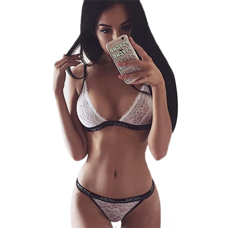 Lace Thong Underwear Intimates <font><b>Bra</b></font> & Brief <font><b>Sets</b></font> <font><b>Sexy</b></font> Lingerie Transparent Women Female Tops Panties Lounge Bralette Beautiful