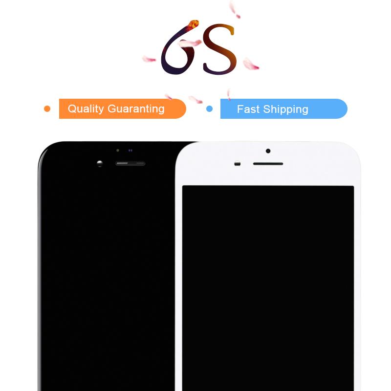 Prix pour Tianma 10 pcs libèrent le bateau pour apple iphone 6s lcd de remplacement écran noir/blanc tactile digitizer assemblée aucun pixel mort