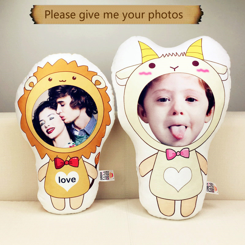 Photo custom The zodiac pillow humanoid cushion Christmas decorations diy gift custom Doll Birthday Valentine's Day Gifts