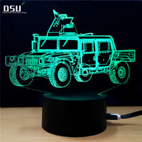 7 Color Changing Off Road Vehicle Visual Night Light SUV Car 3D Light LED Table Lamp