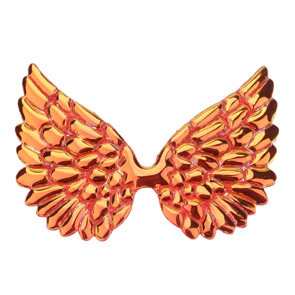 20 шт 3,3 дюймов большой блеск Крылья Бутик аксессуаров для волос цветок аксессуары без заколки для волос повязка на голову - Цвет: Orange