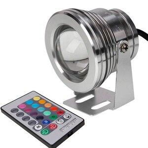 Image 2 - 10 W LED RGB piscina estanque luz Coloful lámpara de pesca con Control remoto