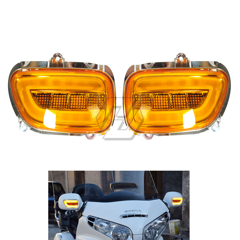 Motorcycle LED Front Side Turn Signal Blinker Case for Honda Goldwing GL1800 GL 1800 2001-2017 F6B 2013-2018 цена 2017