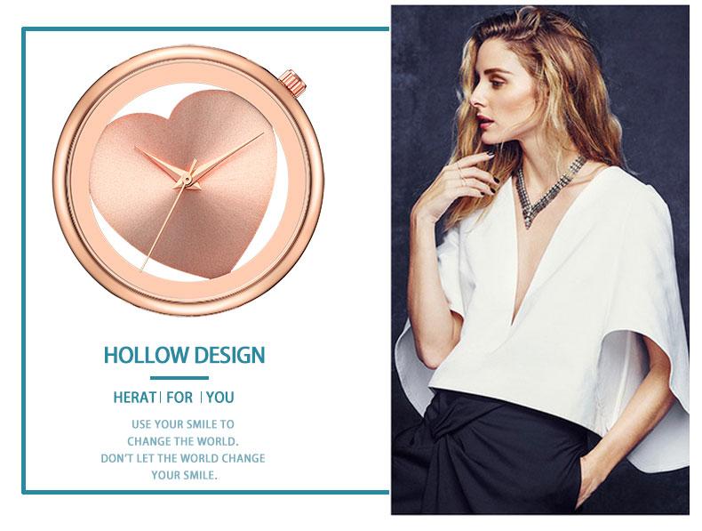 Women Watches Quartz Hollow Analog Stainless Steel Mesh Band Rose Gold Luxury Brand Design Wristwatch Fashion Dress New 5