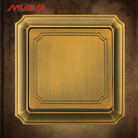 MVAVA 1 Gang 1 Way Light Control Switch EU UK Standard Push Button Bronze Panel Wall