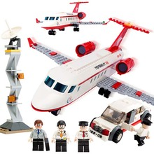 334 Pcs Airplane Toy Air Bus Model Building Blocks Sets Diy Bricks Classic Boys Toys Compatible With Legoings