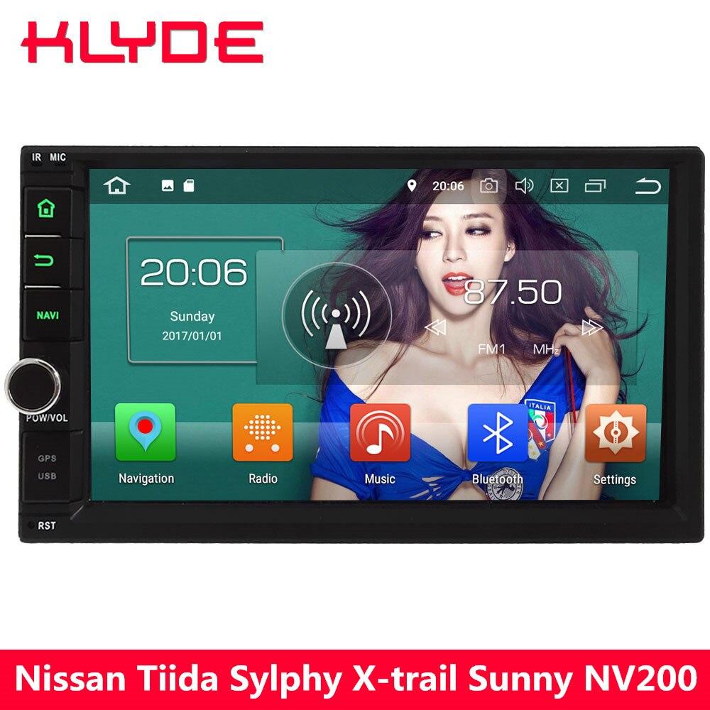 KLYDE 4 г Octa Core Android 8 4 ГБ Оперативная память + 32 ГБ 2Din Универсальный dvd-плеер автомобиля радио для nissan X-trail тела Sylphy Tiida Солнечный Patrol