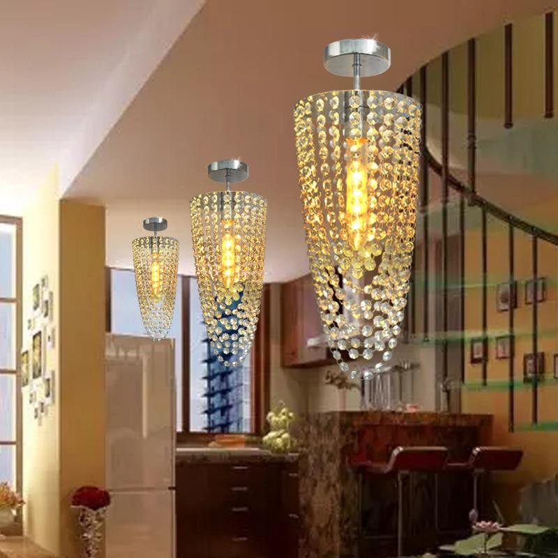 цена на 3pcs/lot LED Chrome Modern K9 crystal chandelier lighting D17*H45cm AC110V-256V Transparent color Ceiling Fan Crystal Chandelier