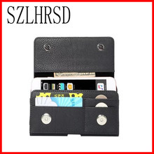Case For Meizu M6 note M5 note Cover Men Belt Clip Leather Pouch Waist Bag Phone Cover For Gigaset GS270 Plus Alcatel A3 XL(China)