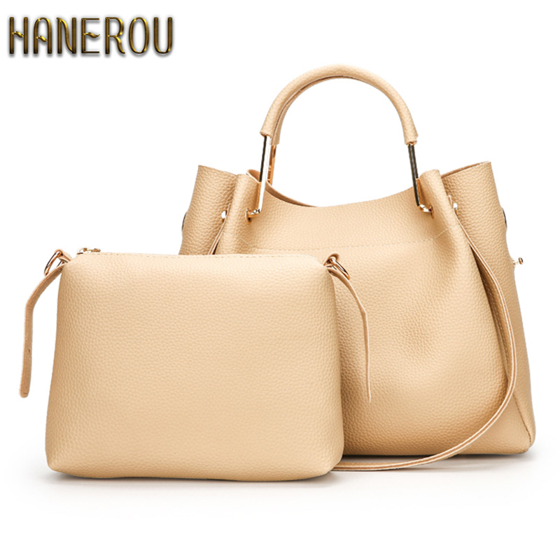 New 2017 Autumn Fashion Women PU Leather Shoulder Bag Ladies Large Casual Tote Bag Brand Woman Handbag Bolsa Feminina Preta