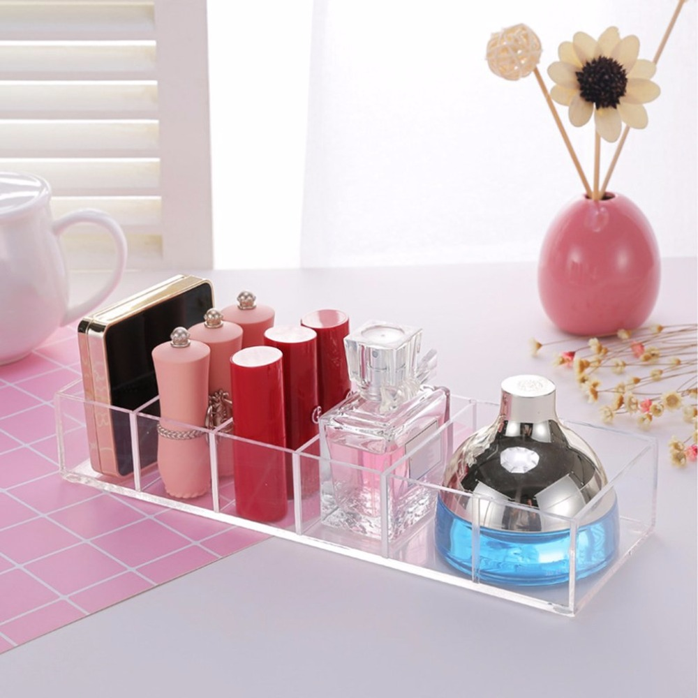 Desktop Clear Acrylic Makeup Arrangement Storage Box Organizer Transparent Cosmetic Makeup Tools Storage Box Case