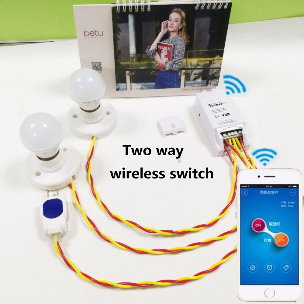 Itead Sonoff Dual Wifi Smart Switch Smart Home Automation Wireless Intelligent Remote Diy Timer Switch Control Via Ios Android