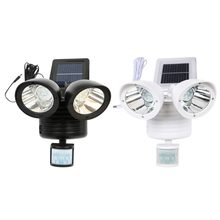22 LED PIR Detector Solar Security Lamp Solar Spot Light Motion Sensor Floodlight Outdoor Lighting for Garden Yard White Black(China)