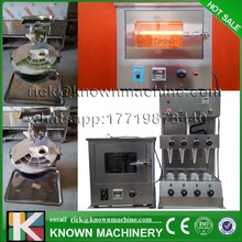 Free Shipping 110v/220v Hot Electric Pizza Cone Machine; Waffles Cone Maker +Pizza Cone Oven+dough depositor and roller