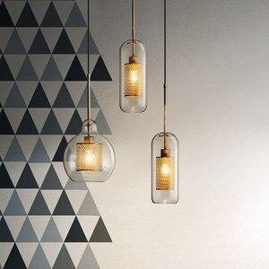 Image 2 - Nordic Industrial Loft Light Creative Concise Glass Dining Room Pendant Light Retro Bar Study Hanging light Free Shipping