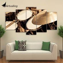 5 Piece Canvas Art HD Printed Classical Drum Painting Music Instrument Wall Pictures for Living Room Free Shipping CU-1878A