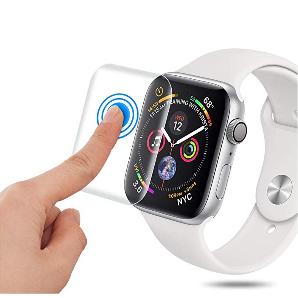 Full For Apple Watch 4 accessories iwatch 44mm 40mm 9D watch Anti-Shock TPU Screen Protector Cover Protective Film