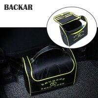 BACKAR Car Styling Polyester Garbage Storage Bag Trash Box Accessories For Skoda Fabia Superb Ford mondeo mk4 mk3 Mitsubishi asx