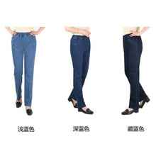 mom jeans Blue XL-5XL Plus Size High Waist Jeans 2019 Spring New Casual Stretch Loose Denim Pants Women Chic Slim Clothing LD715 jeans men 2017 new arrival brand clothing blue slim fit casual denim pants high quality plus size free shipping