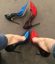 Big Sale High Heels Pumps 12cm Sexy Pointed Toe Leopard Printed 2018 Mixed Colors Thin Office Lady Shoes