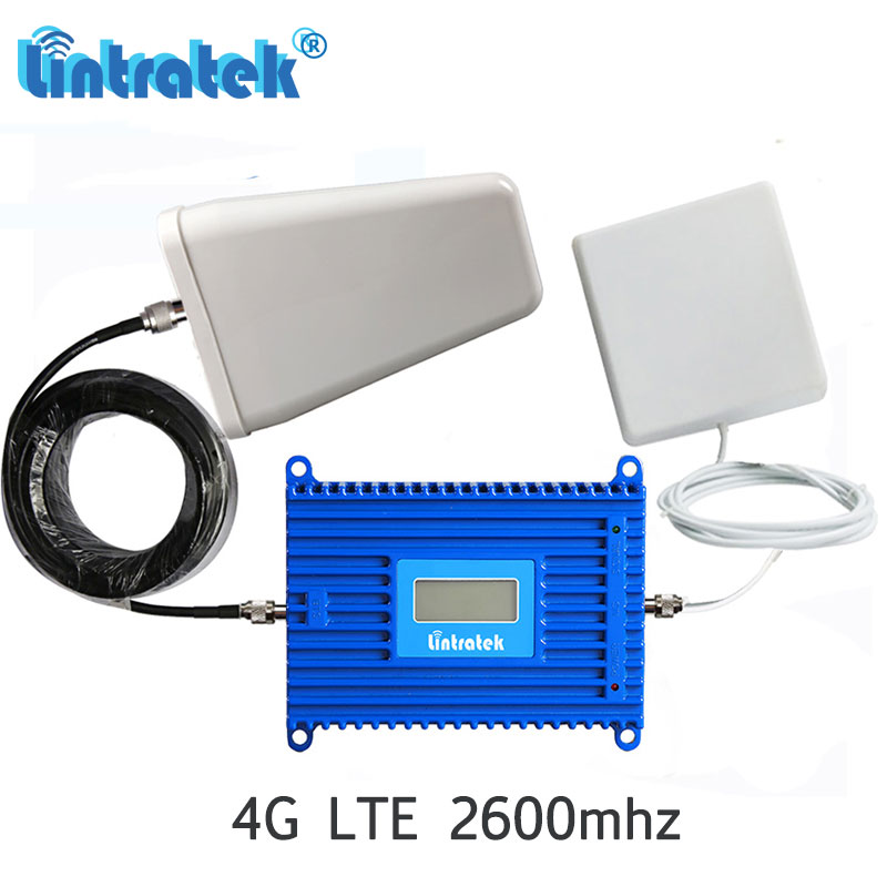 Lintratek Powerful 4G 2600MHz 70dB Gain Mobile Phone Signal Booster LTE B7 2600 ALC Cellphone Repeater Amplifier Antenna Set#5+3Lintratek Powerful 4G 2600MHz 70dB Gain Mobile Phone Signal Booster LTE B7 2600 ALC Cellphone Repeater Amplifier Antenna Set#5+3