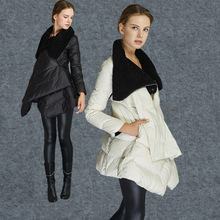 2015 down coat Women down jackets female fashion medium-long thickening cloak turtleneck outerwear down