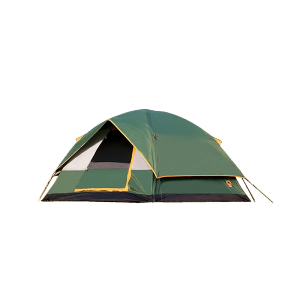 DESERTCAMEL CS056 Double Layers Hiking Tent Thickened Silver Plating Oxford Cloth Tent Outdoor Camping Tent For 3-4 Persons outdoor camping hiking automatic camping tent 4person double layer family tent sun shelter gazebo beach tent awning tourist tent