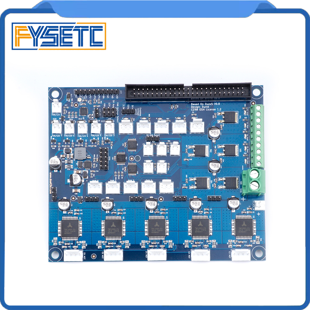 Cloned Duex5 DueX Expansion Board With TMC2660 Support For Thermocouple Or PT100 Daughter Boards For 3D Printer And CNC Machine