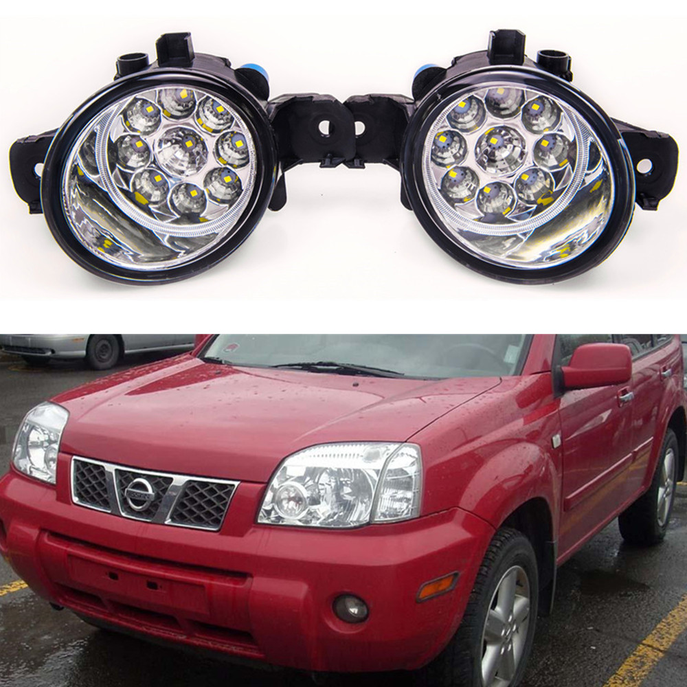For nissan X-TRAIL (T30) 2001-2006 Car styling High brightness LED fog lights DRL lights 1SET for nissan x trail t30 2001 2006 car styling led light emitting diodes drl fog lamps