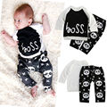 2016 Fashion Spring Autumn Children Clothing Set Newborn Boys Baby Panda Printed Cotton Long Sleeve Suits 2pc( T-shirt+ Pants)