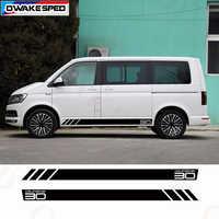 Автобус Калифорния T6 30 издание боковая полоса наклейка полный набор для Volkswagen Multivan Transporter двери автомобиля Декор наклейки