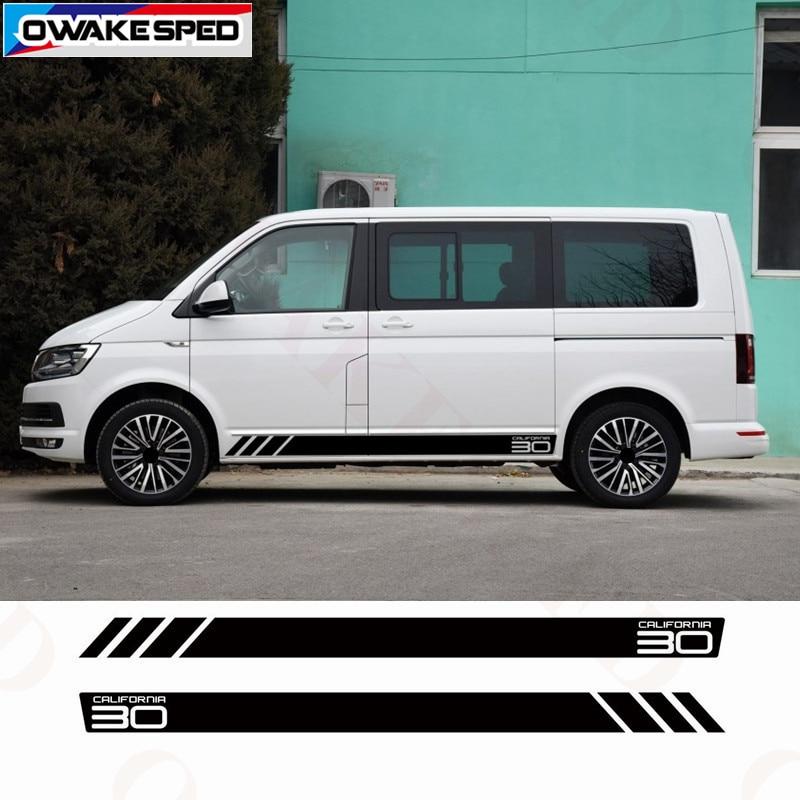 BUS California T6 30 Edition Side Stripe Sticker Complete Set For Volkswagen Multivan Transporter Car Door Decor Decals