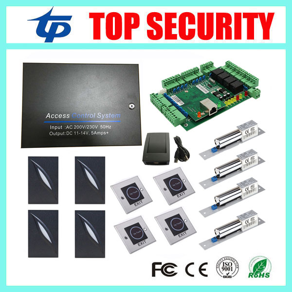 L04 door access control panel TCP/IP card access control system waterproof access control card reader with infrared exit waterproof ic card reader door access control system rs485 232 output