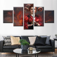 5 Pieces Wall Art Paintings For Pictures Abstract Figure Painting Prints Poster Home Decoration Living Room
