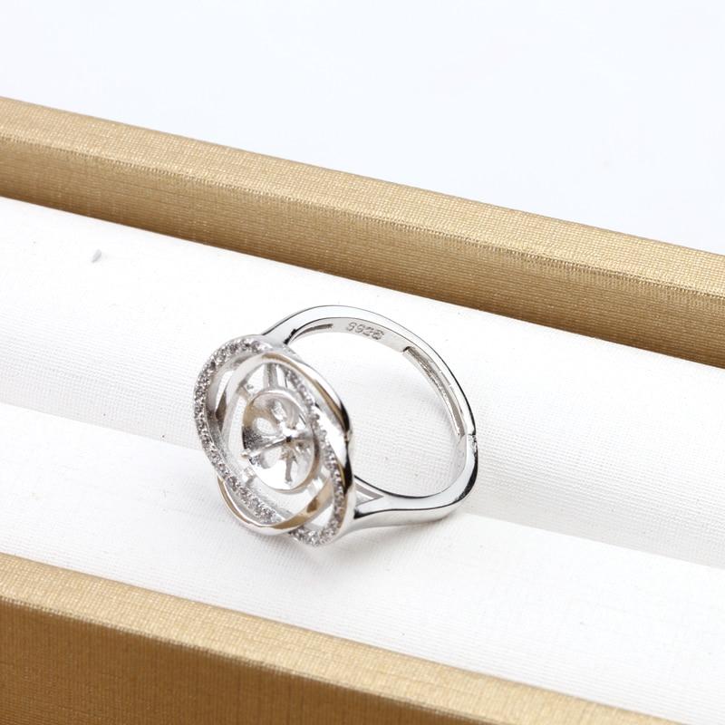 3 Stück 925 Sterling Silber Edelsteinbesetzte Perle - Edlen Schmuck - Foto 3