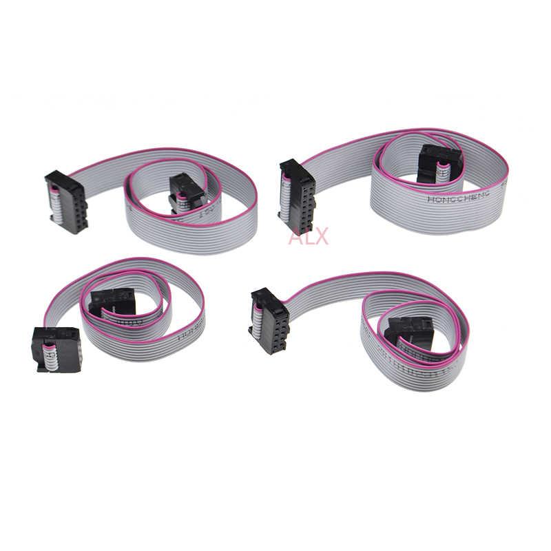 2 sztuk 2.54MM pitch FC-6/8/10/14/16/20/40/50 PIN 30CM JTAG ISP pobierz kabel szary płaska wstążka kabel danych dla DC3 IDC opakowanie złączy