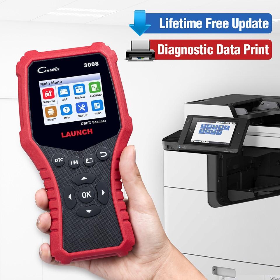 STARTEN X431 CR3008 Creader OBD2 OBDII Auto Scanner CR3008 OBD 2 Motor Code Reader kostenloser software update 3008 auto Diagnose werkzeug - 2