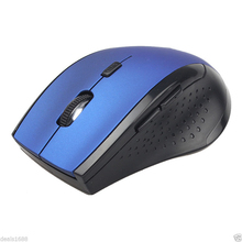2.4GHz 6D USB Wireless Optical 1600DPI Gaming Mouse Mice For Computer PC Laptop Deep Blue