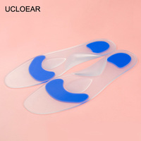 UCLOEAR High Quality Gel Insoles Silicone Insoles Foot Care For Plantar Fasciitis Heel Spur Shock Absorption