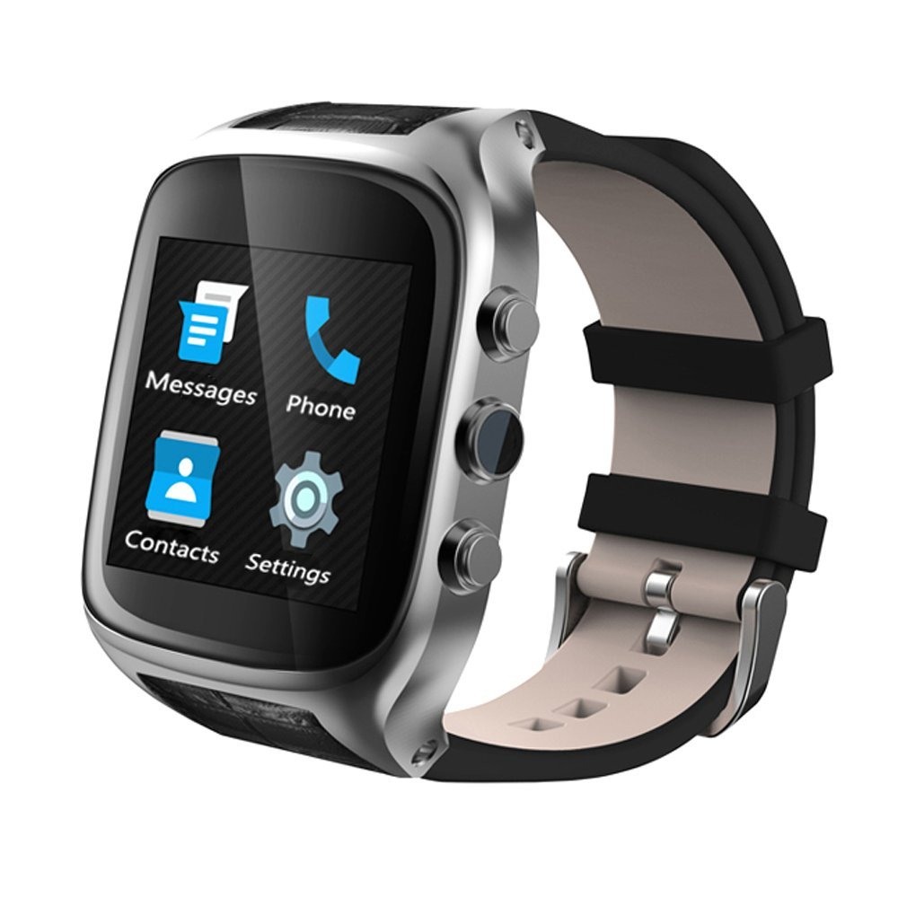 X01S Smart WiFi Bluetooth Watch Phone Android 5.1 OS 3G WCDMA 1GB+8GB GPS Heart Rate Monitor Sport Pedometer with 2MP Camera android 5 1 smartwatch x11 smart watch mtk6580 with pedometer camera 5 0m 3g wifi gps wifi positioning sos card movement watch