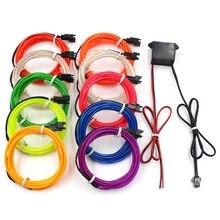 1M 2M 3M 5M10M EL Wire Neon Lights LED Lamp Flexible Rope
