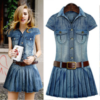 Summer Fashion Europe And The United States Large Size Women S Casual Denim Casual Short Sleeved